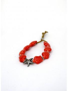 Bracciale Stella Rosso